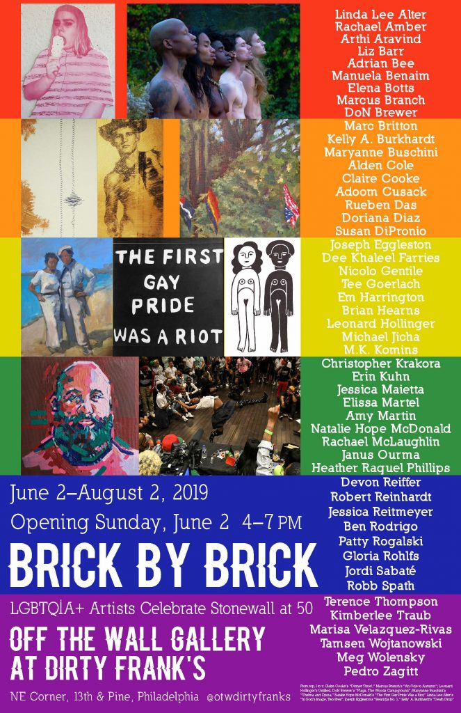 Brick by Brick Poster, Off the Wall Gallery at Dirty Franks