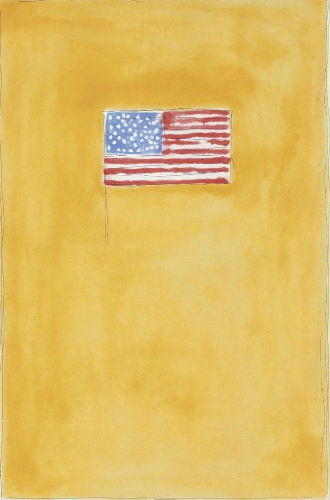 Jasper Johns, Tampa Museum of Art, Flag on Orange